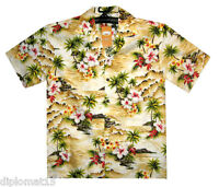 PLA Original Hawaiihemd Welle Beige S-4XL