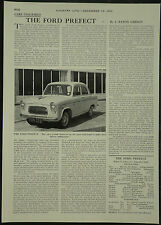 The Ford Prefect Review Spec Road Test 1960 1 Page Photo Article