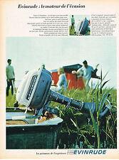 publicité advertising    1967   EVINRUDE  moteur  bateau de l'évasion