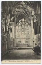 (ak3) Louis Levy, CHRISTCHURCH PRIORY LL12, The Lady Chapel c1910 Unused VG+