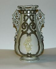 Villeroy & Boch Antique Mettlach Decorative Vase w/Parian Figures