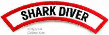 SHARK DIVER CHEVRON - SCUBA DIVING iron-on DIVE PATCH embroidered applique