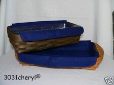 Longaberger Small Serving Or Bread Liner Indigo - New