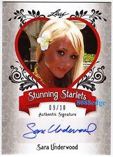 2012 LEAF POP CENTURY STARLET AUTO: SARA UNDERWOOD #9/10 AUTOGRAPH PLAYBOY PMOY