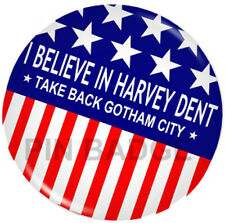 Batman Dark Knight Harvey Dent 2 Face Joker Pin Badge NEW Costumes Fancy Dress