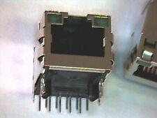 Modular-Einbaubuchse 10P10C shielded mit 2 grünen LEDs RJ45 RJ48 RJ50