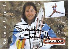 Sandra Schmitt † 2000 ski freestyle autografiada mapa firmado 361044