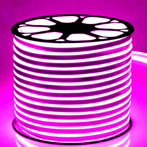 Led Neon Flex Pink 220V 240V 8x16 120LED/m Dimmable IP67 Waterproof Outdoor Use