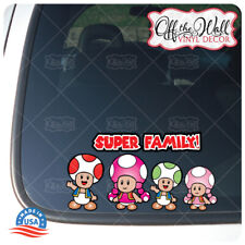 Toad Family Stick Figure Car/Truck/Vehicle Waterproof UV Laminate Sticker