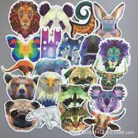 35PCS Laptop Luggage Graffiti Decals Diamond Animal Stickers Cartoon Waterproof