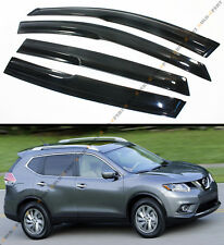 FITS FOR 2014-2017 NISSAN ROGUE SV WAVY 3D SMOKE WINDOW VISOR WEATHER RAIN GUARD