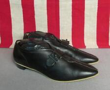 Vintage 1960s Js Raub Shoes Black Leather Flats Buckle Sz 6.5 New Nos w/Box Mod