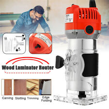 6mm 1/4'' 30000RPM Electric Hand Trimmer Wood Laminator Router Joiners Tool 220v