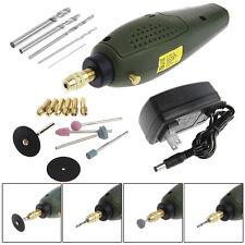 Mini Electric Rotary Drill Grinder Tool & Bit Cutting Engraving Kit Set New