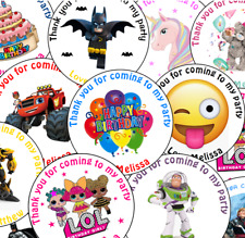 Personalised Round Disney Brave Birthday Party Stickers Sweet Bags Cones Labels
