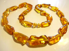 Genuine BALTIC HONEY  AMBER Necklace 19.7inch