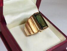 Ring 585 Rotgold Gold 7,8 g Goldring Turmalin Grüne Stein RG 53 - 16,8 mm 2480