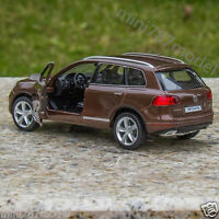 5 Inch Volkswagen Touareg Model Car Toy Car Kids Gifts Alloy Diecast Brown New