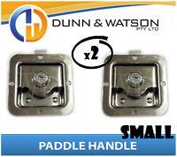Small Paddle Handle (Lock, Latch) x2 Camper Trailer, Caravan, Toolbox, Motorhome