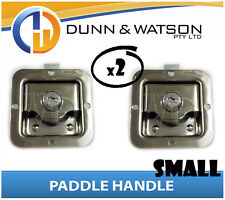 Small Paddle Handle (Lock, Latch) x2 Camper Trailer, Caravan, Toolbox, Motorhome