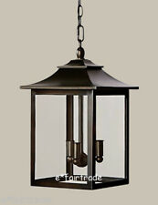 NEW Pottery Barn Classic Indoor/Outdoor Pendant, BRONZE FINISH, 2 - Available