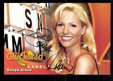 Sonya Kraus Glücksrad Autogrammkarte Original Signiert ## BC 27223