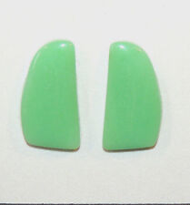 Chrysoprase Free Form Pair Cabochon 21.5x10.5mm with 3.5mm dome (10433)