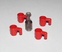 Lego ® Accessoire Lot x4 Tasse Rouges + Bouteille Cup & Bottle 95228 + 3899 NEW