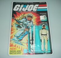 *RECARDED* 1983 GI Joe Snow Job v1 Figure Complete Sealed *CUSTOM File Card Back
