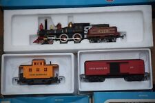 Airfix H0 steam locomotive Union Pacific with box car and Caboose boxed