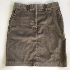 LL Bean Soft Velvety Moleskin Cotton Demi A-Line Skirt 6P (4) Fall Casual Taupe