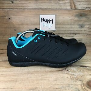 LOUIS GARNEAU Opal Women's Black/Blue SPD Casual Cycling Trainers Shoes Size UK5