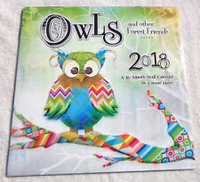 Owls/Forest Friends 2018 16 Month Wall Calendar by Connie Haley  DateWorks New