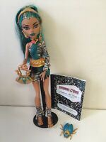 Monster High Doll - Nefera de Nile With Accessories By Mattel EUC
