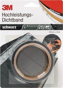 3M Hochleistungsdichtband schwarz 1,5mx38mm Rolle