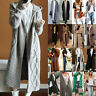 Womens Winter Cardigan Chunky Knitted Long Sweater Open Front Coat Outwear Tops