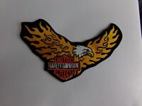 "NOS Vintage Harley Davidson Eagle Patch-9"" X 5.5""-Flaming Eagle's Wings"