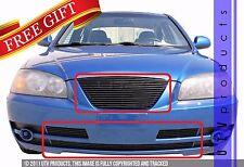 GTG Gloss Black 4PC Replacement Billet Grille fits 2004 - 2006 Hyundai Elantra