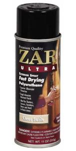 NEW ZAR 34007 Clear Gloss Ultra Exterior Oil Based Polyurethane 11 oz Spray Can