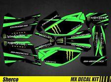 Kit Déco Moto / Mx Decal Kit Sherco 50 - Monster