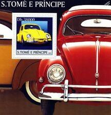 VOLKSWAGEN VW Beetle Käfer Car Stamp Sheet (2003 St Thomas & Prince Islands)