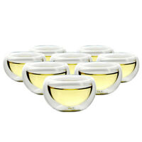NEW! SET OF 8 TEAOLOGY LUNA BOROSILICATE GLASS TEA/ESPRESSO CUP - HEAT RESISTANT