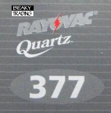 Genuine Rayovac 377 SR626SW Watch Battery [1-Pack]