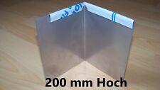2er Set Aussenecken 200 mm, Rasenkante, Beeteinfassung aus Edelstahl 90°