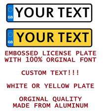GB UK ENGLISH Custom Personalized Euro Union Car license plate number plate