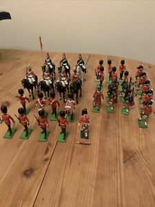 britains toy soldiers Job Lot 1986 1971 Scots Guard Metal Plastic Collection