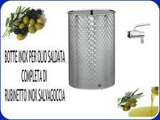 BOTTE INOX SALDATA FIORETTATA LT. 200 COMPLETA DI RUBINETTO INOX