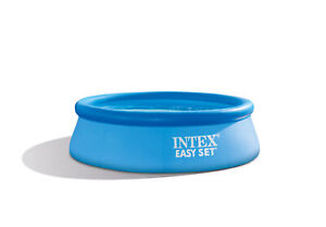 Intex 8ft x 30in Easy Set Inflatable Above Ground Family Swimming Pool (No Pump)