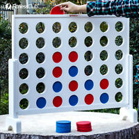 Giant Connect 4 In A Row Jumbo Yard Game Toys Kids Adults Wood Board Family Game
