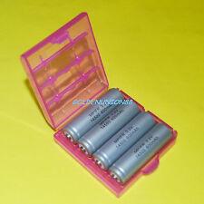 4X LiFePO4 LFP IFR14500 3.2V 600mAh AA size LiFe 14500 battery + 1X plastic case